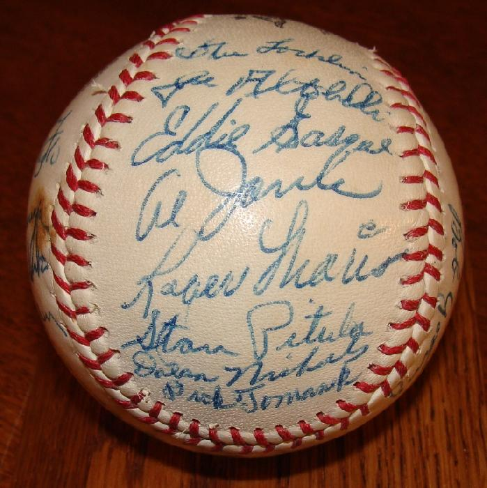 Autographed Roger Maris 1956 Indianapolis Indians