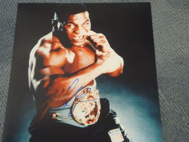 Autographed Mike Tyson