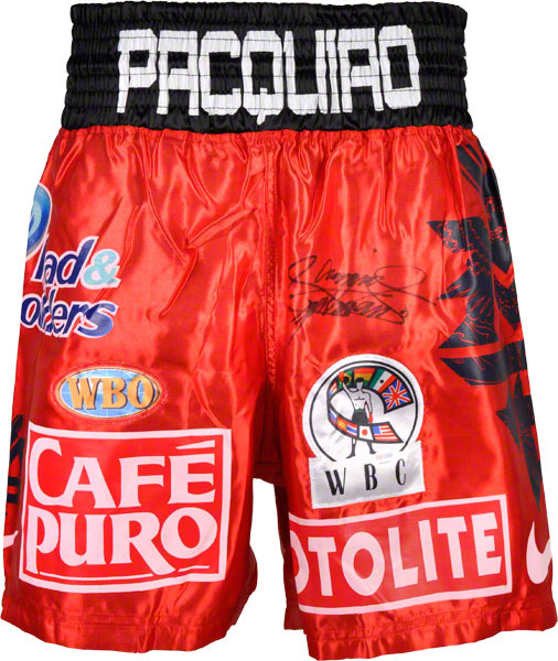 Autographed Manny Pacquiao