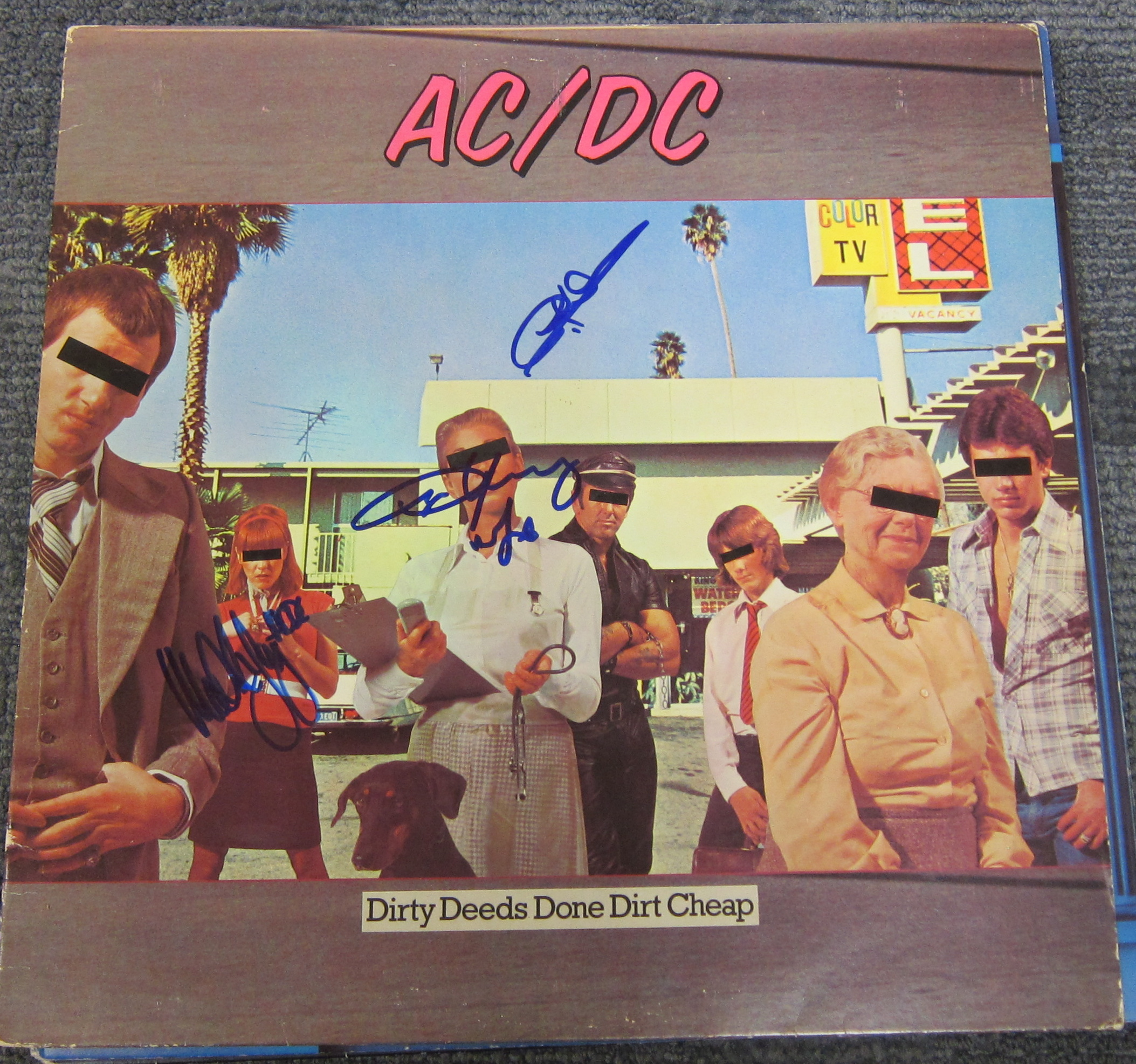 Autographed AC/DC - Dirty Deeds
