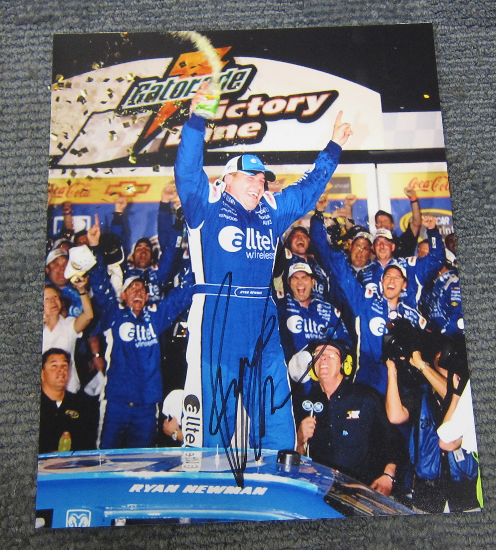 Autographed Ryan Newman