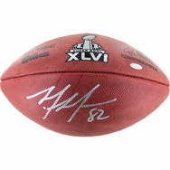Mario Manningham Super Bowl 46 Signed