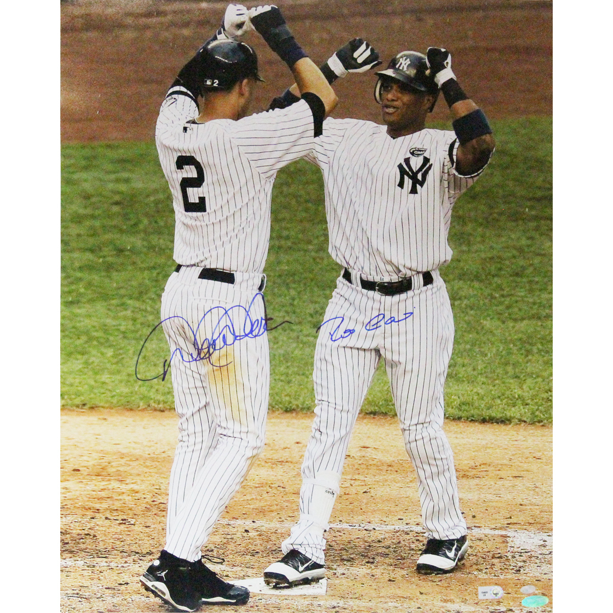 Autographed Robinson Cano & Derek Jeter