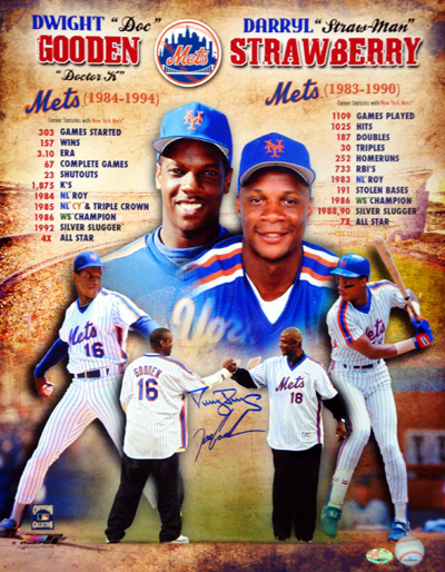 Autographed Darryl Strawberry & Doc Gooden