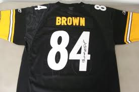 newest collection 6251d 89014 Antonio Brown Autographed Jersey