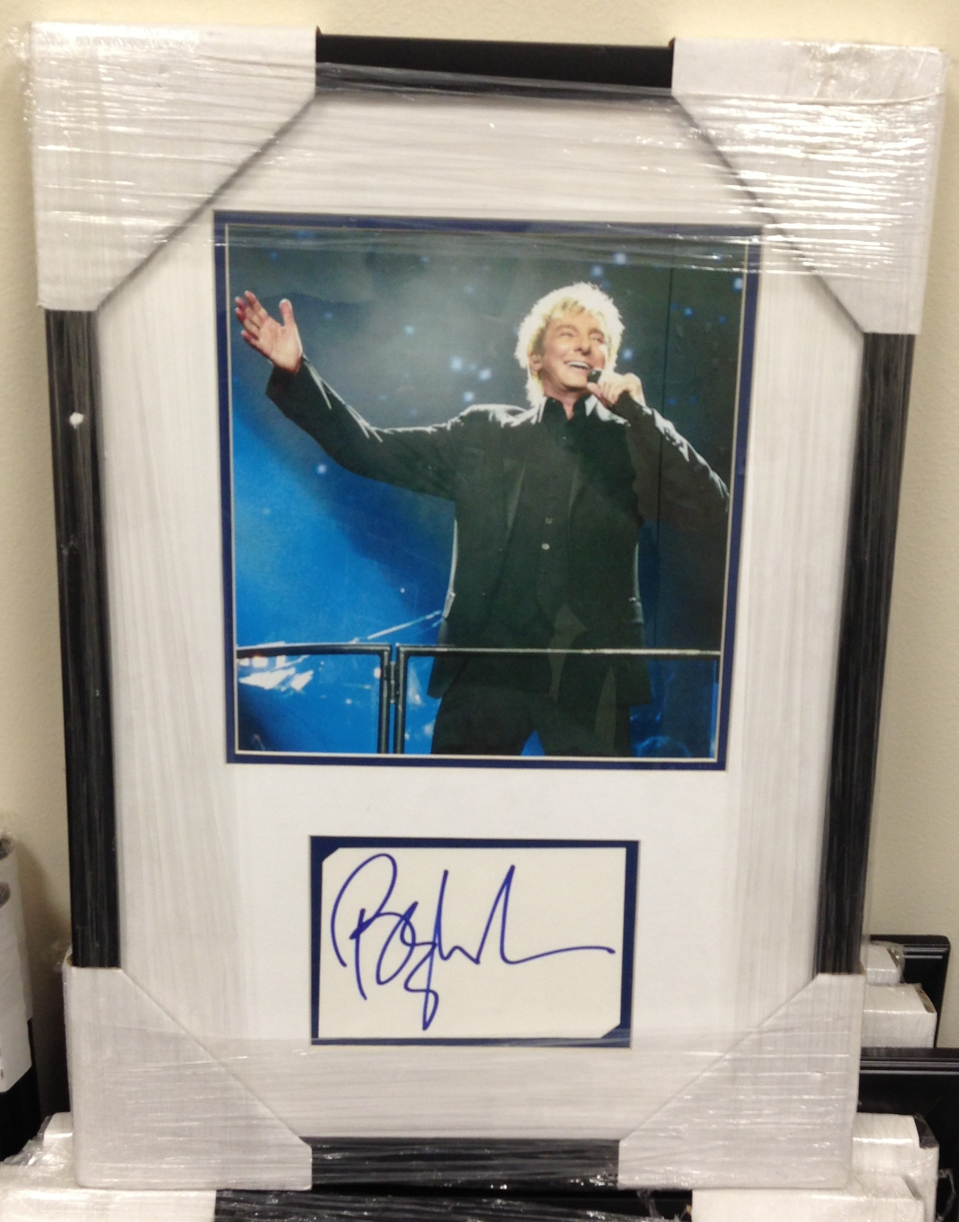 Autographed Barry Manilow