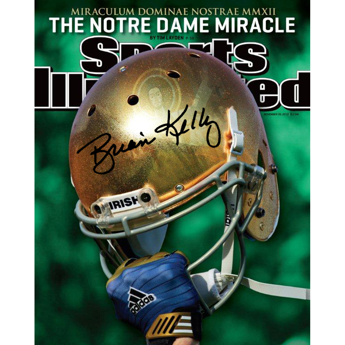 Autographed Brian Kelly Notre Dame Fighting Irish