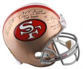 Autographed Joe Montana Jerry Rice & Steve Young