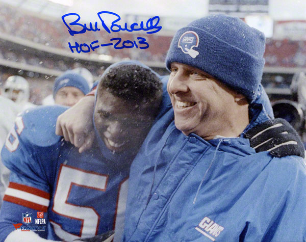 Autographed Bill Parcells Giants Signed