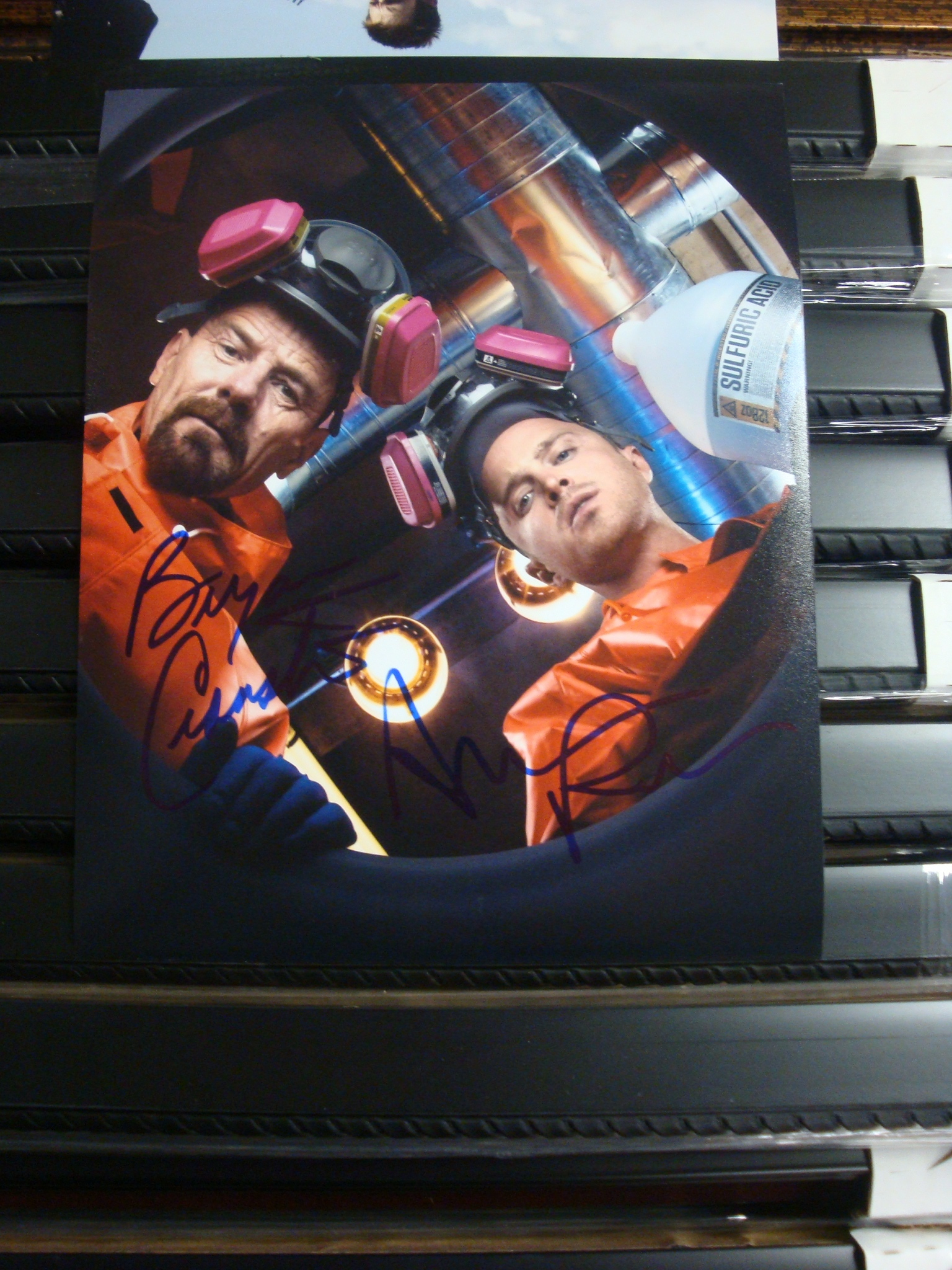 Autographed Bryan Cranston & Aaron Paul Breaking Bad Signed