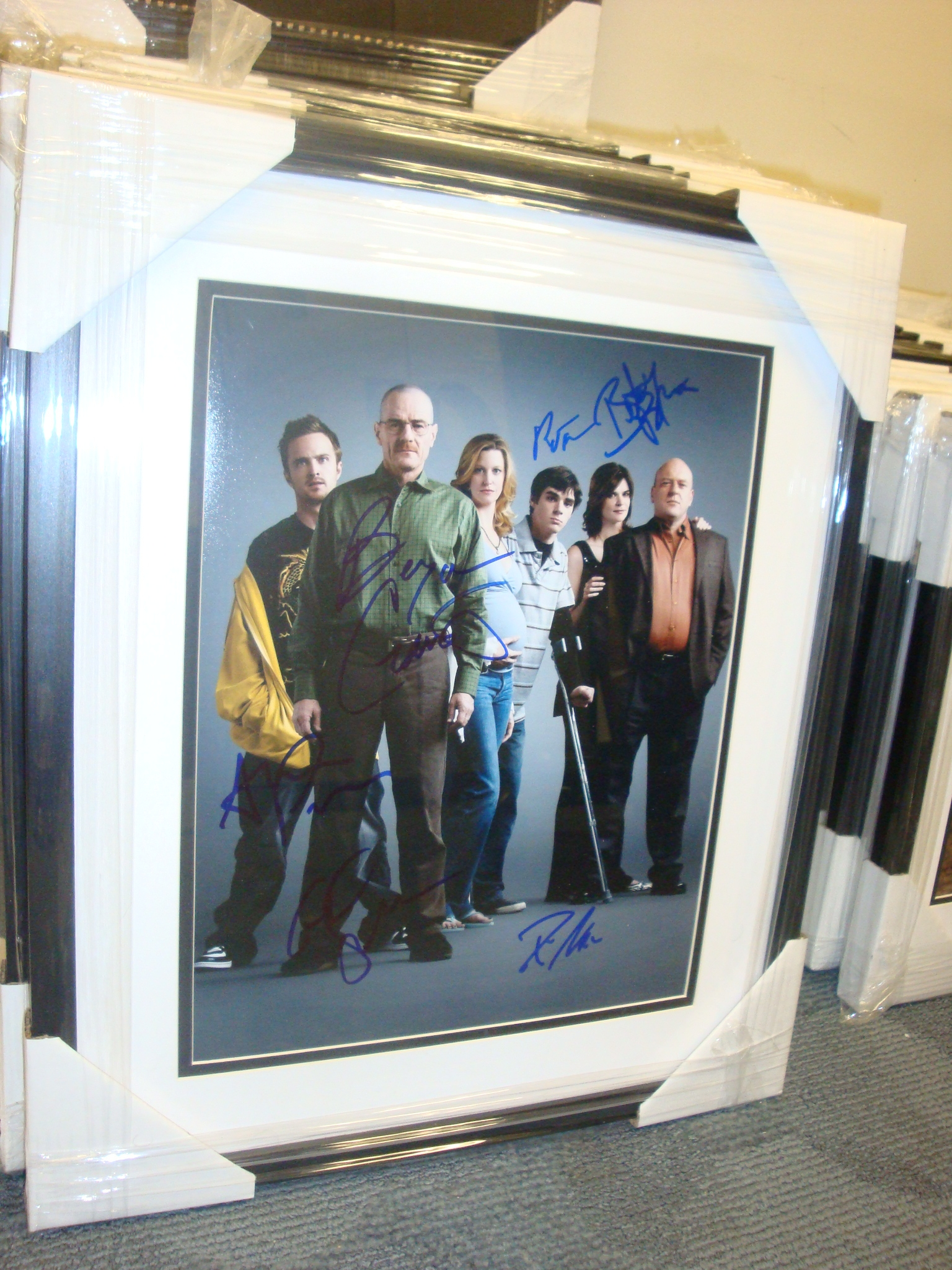 Autographed Breaking Bad Cast Signed & Framed