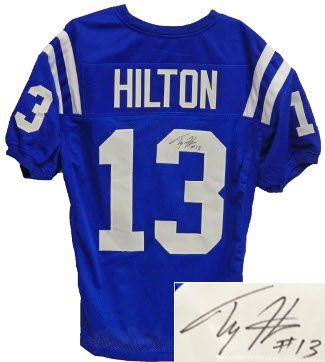 new style 9fb13 4ea5c TY Hilton Autographed Jersey