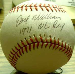 Autographed Earl Williams
