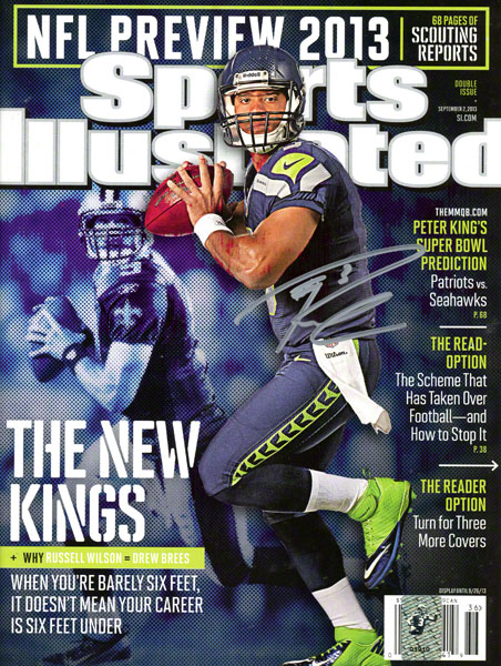 Autographed Russell Wilson Sports Illustrated