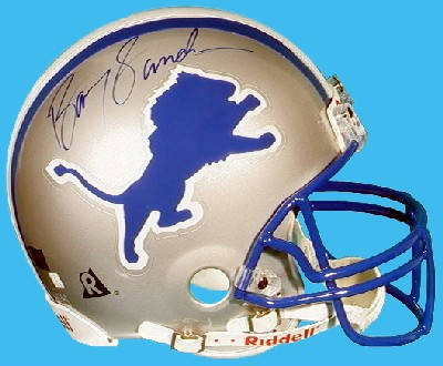 Autographed Barry Sanders