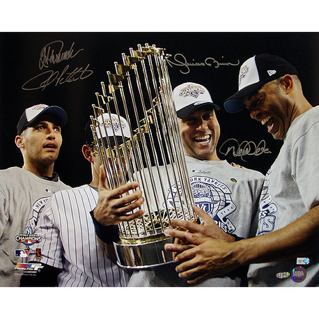 Autographed Derek Jeter Mariano Rivera Jorge Posada & Andy Pettitte