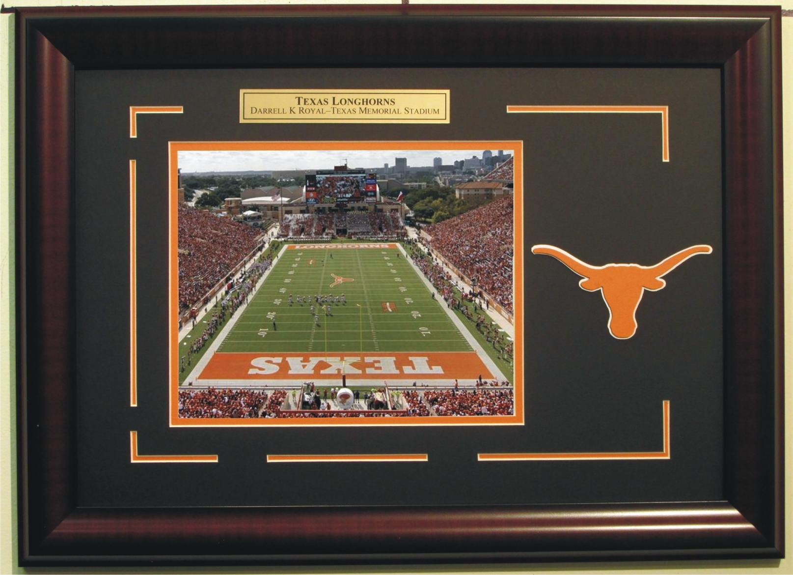 Autographed Texas Longhorns Darrell Royal Stadium