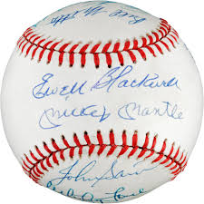Autographed 1953 New York Yankees