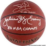 Autographed Julius Erving & Billy Cunningham