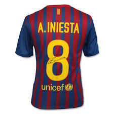 Autographed Andres Iniesta