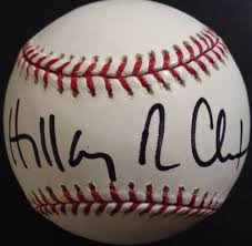 Autographed Hillary Clinton
