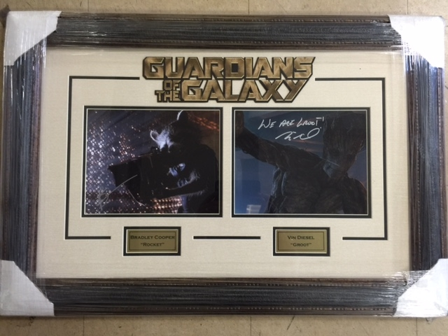 Autographed Bradley Cooper & Vin Diesel (Guardians of the Galaxy)