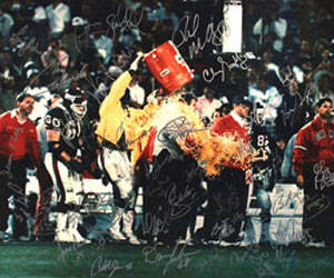 Autographed 1986 New York Giants