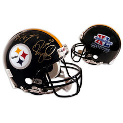 Autographed Ben Roethlisberger & Jerome Bettis
