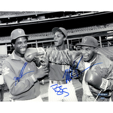 Autographed Mike Tyson Doc Gooden & Darryl Strawberry