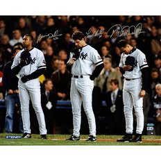 Autographed Bernie Williams Paul O'Neill & Derek Jeter