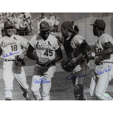 Autographed Bob Gibson Tim McCarver Mike Shannon & Orlando Cepeda