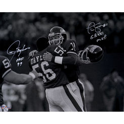 Autographed Phil Simms & Lawrence Taylor