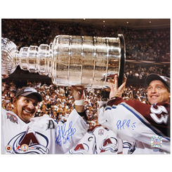 Autographed Patrick Roy & Ray Bourque