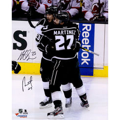 Autographed Dustin Brown & Alec Martinez