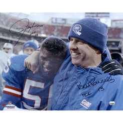 Autographed Bill Parcells & Lawrence Taylor