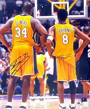 Autographed Kobe Bryant & Shaquille O' Neal