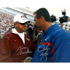 Autographed Urban Meyer & Bobby Bowden