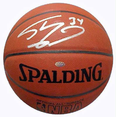 Autographed Shaquille O'Neal