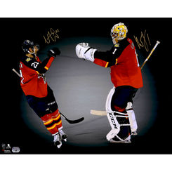 Autographed Roberto Luongo & Vincent Trocheck
