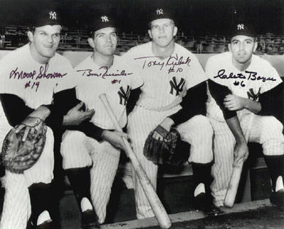 Autographed 1961 Yankees Infield