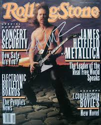 Autographed James Hetfield - Metallica