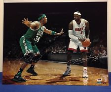 Autographed LeBron James & Paul Pierce
