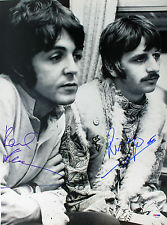 Autographed Paul McCartney & Ringo Starr