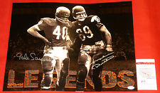 Autographed Gale Sayers & Mike Ditka
