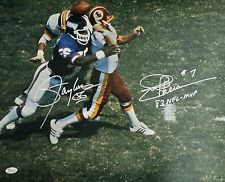 Autographed Lawrence Taylor & Joe Theismann