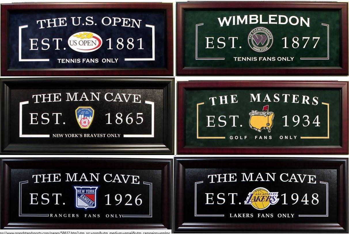 """Man Cave"" 3-D Laser Engraved Framed Tributes"