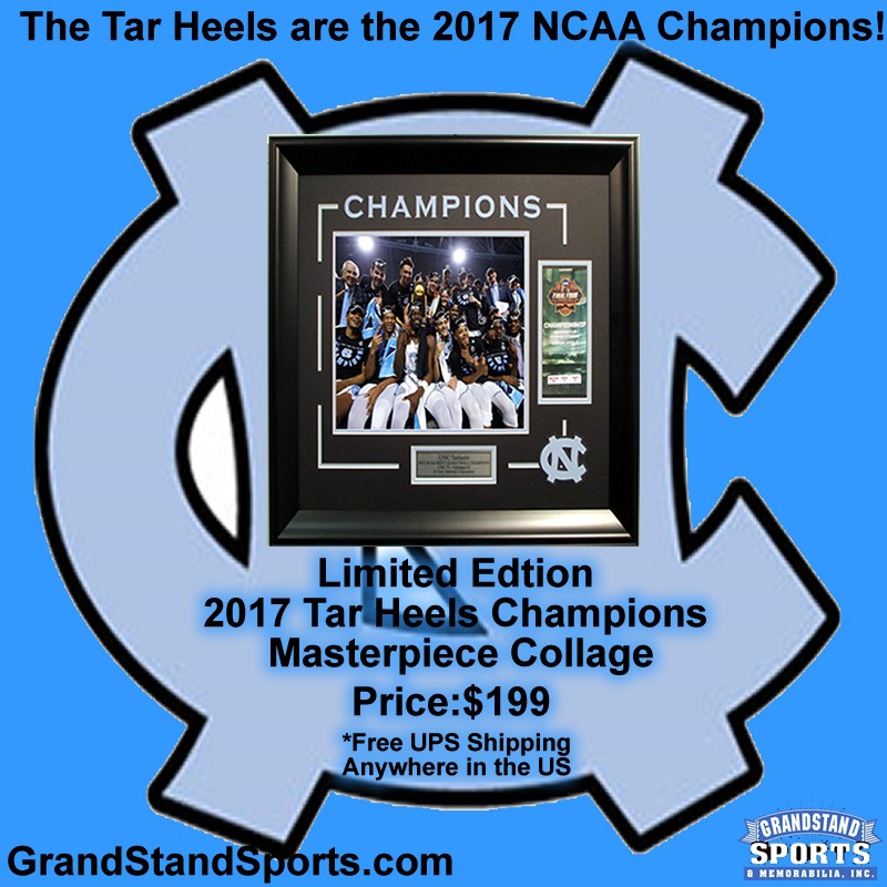 Autographed North Carolina Tar Heels