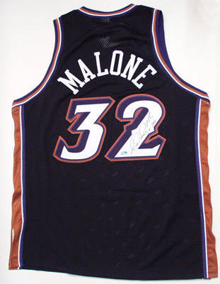 Autographed Karl Malone