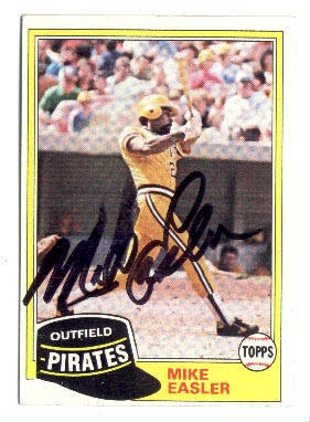 Autographed Mike Easler