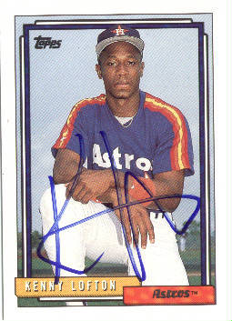 Autographed Kenny Lofton